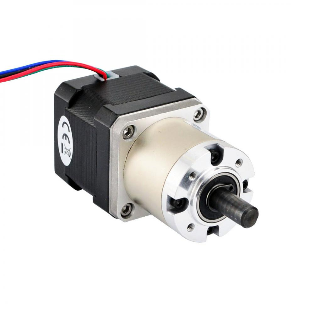 Geared nema 17 stepper motor bipolar l 40mm w gear for Stepper motor gear box