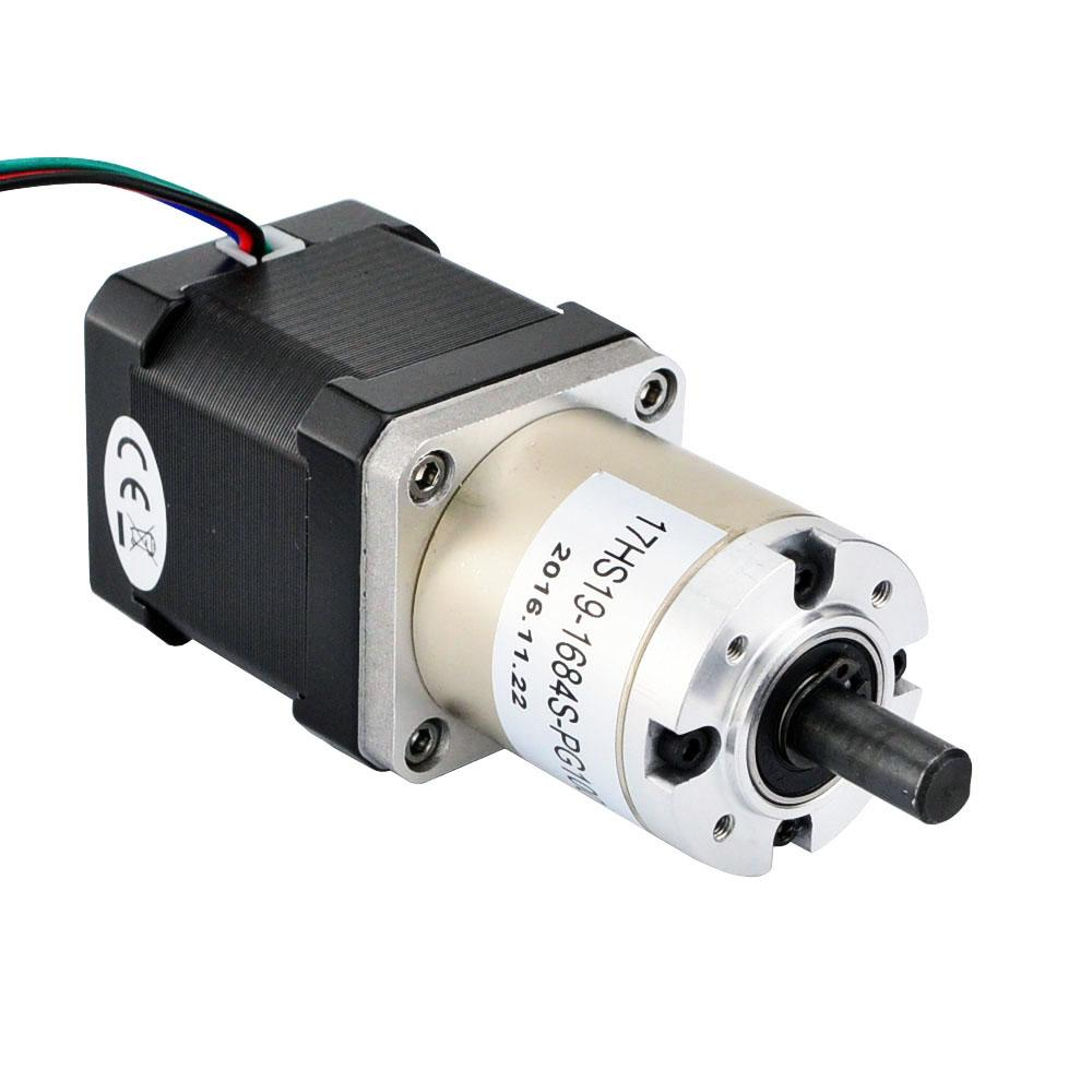 Geared nema 17 stepper motor bipolar l 48mm w gear for Stepper motor gear box