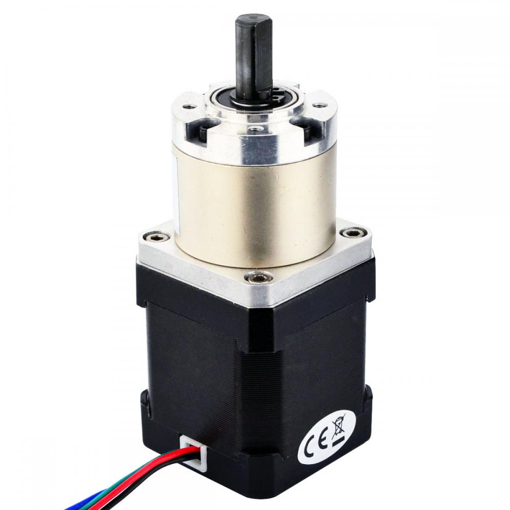Nema 17 stepper motor bipolar l 48mm w gear ratio 19 1 for Stepper motor gear box