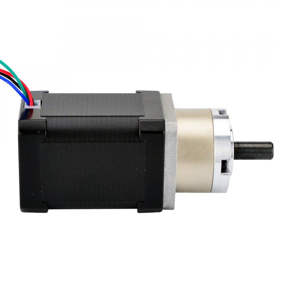 Geared nema 17 stepper motor bipolar l 60mm w gear for Nema 17 stepper motors with rotary encoders