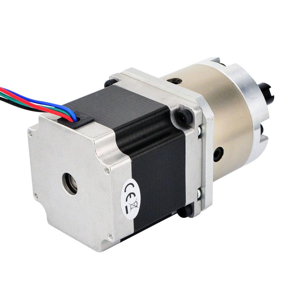 geared nema 23 stepper motor bipolar l 56mm w gear