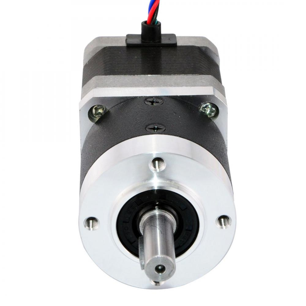 Geared nema 17 stepper motor l 39mm gear ratio 10 1 high for Stepper motor gear box