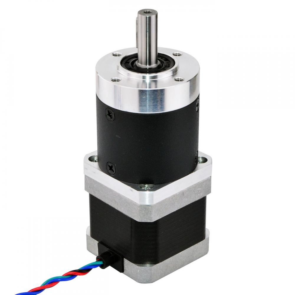 Geared nema 17 stepper motor l 39mm gear ratio 30 1 high for Nema 17 stepper motors with rotary encoders