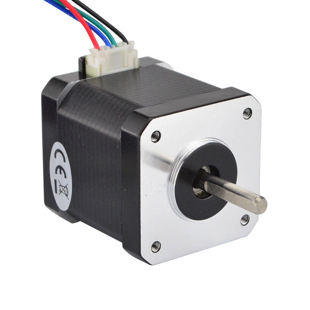 Hybrid nema 17 bipolar 45ncm 2 8v for Nema 17 stepper motors with rotary encoders